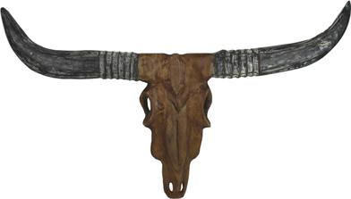 Woondecoratie - Buffalokop - Teakhout - 80 x 60 cm - HSM Colleciton